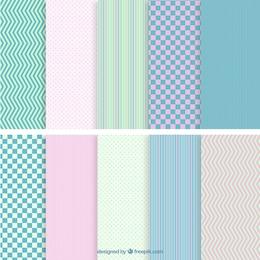 Patrones geométricos de colores