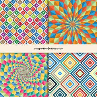 Patrones geométricos en estilo arte óptico