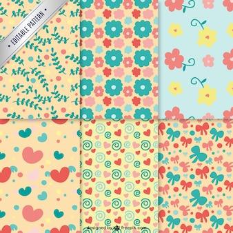 Pack de patrones florales