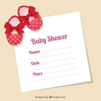 Patucos bebé tarjeta de ducha