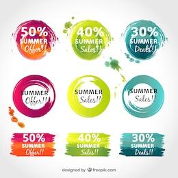 Pegatinas coloridas promocionales
