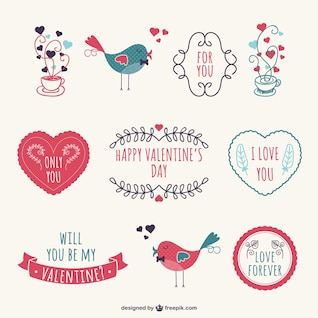 Pegatinas de Día de los Enamorados