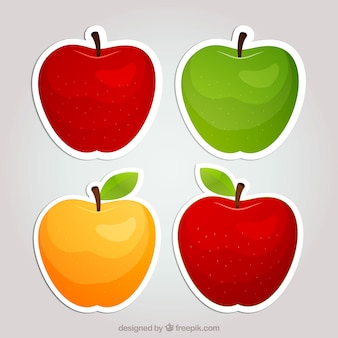 Pegatinas de manzana