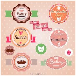Pegatinas de panadería vintage
