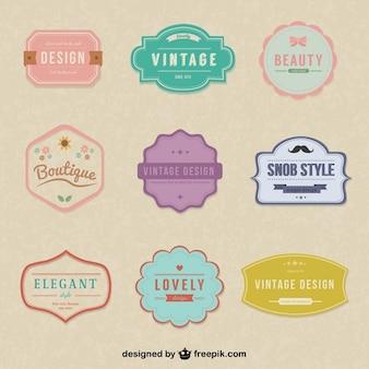 Pegatinas vintage simples