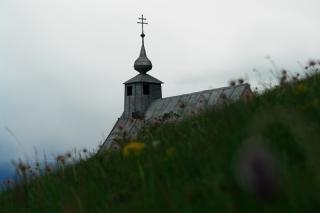 pequeña iglesia, una boda