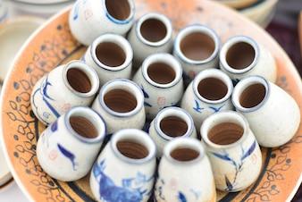 Pequeño frasco chino para té