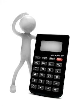 Personaje con una calculadora