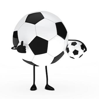 Personaje positivo con una pelota