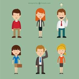 Personajes de dibujos de gente
