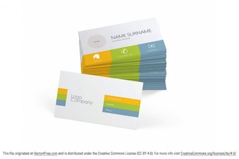 Personalizable plantilla de tarjetas de visita