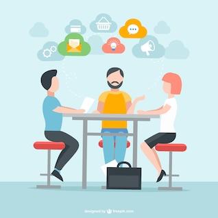 Personas en reunión