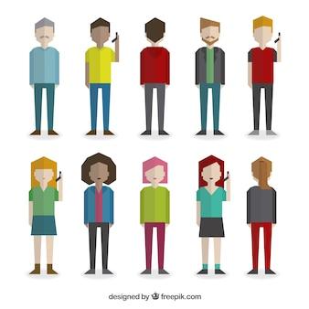 Personas geométricos