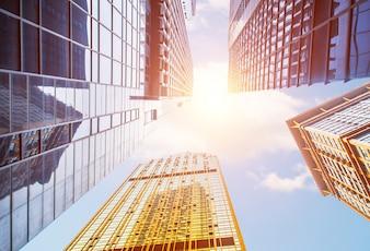 Perspectiva de rascacielos