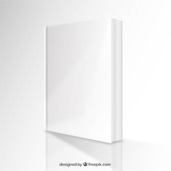 Perspectiva maqueta libro en blanco