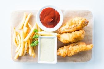 Pescado y papas fritas