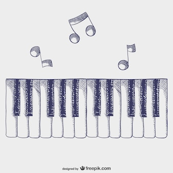 Vector teclas de piano