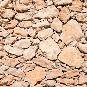 Piedra marrón vacía. Textura del fondo