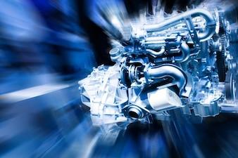 Pieza de metal mecánico de automóviles belleza