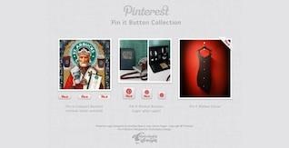 pin que pinterest colección de botones de psd