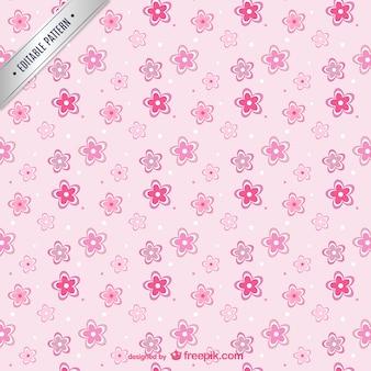 Patrón de flores de color rosa
