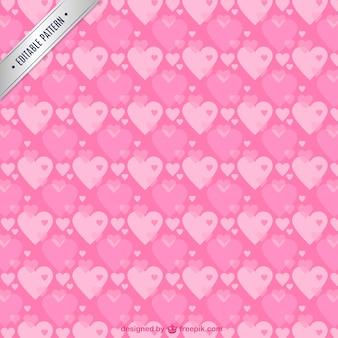 Patrón de corazones de color rosa