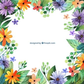 Pintado a mano fondo floral