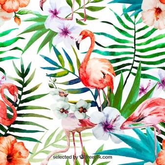 Pintado a mano naturaleza tropical