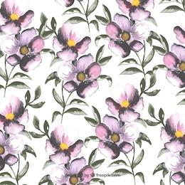 Pintado a mano patrón de flores
