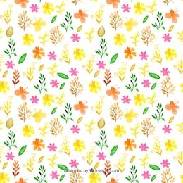 Pintado a mano patrón primaveral