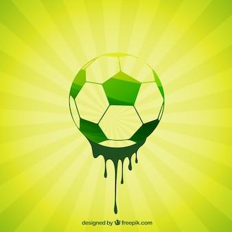 Pintados a mano, balón de fútbol