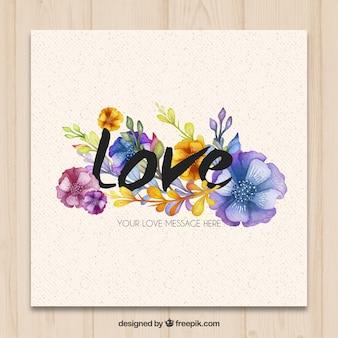 Pintados a mano, tarjeta de amor