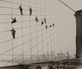 Pintores en el puente