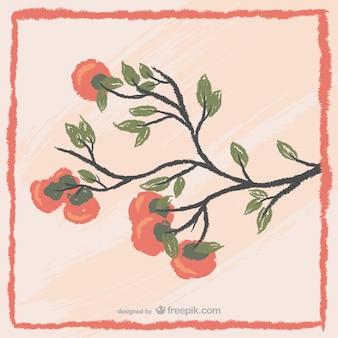Pintura de árbol coreano