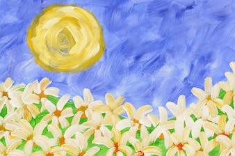 Pintura de flores de verano