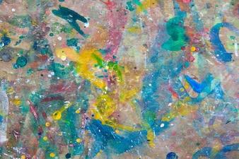 Pintura de Grunge en el fondo de madera