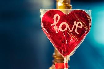 Piruleta con letras de amor