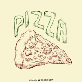 Dibujo porción de pizza