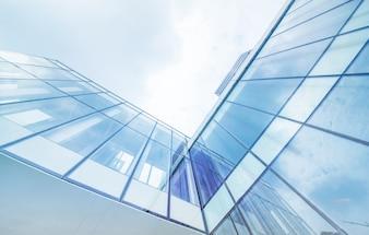 Plano nadir de un edificio moderno