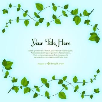 Plantilla de hojas de planta