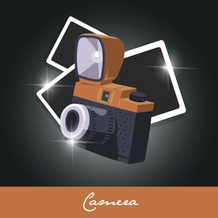 Plantilla  con cámara polaroid