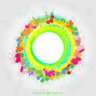Plantilla abstracta de colores vivos