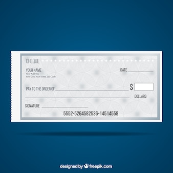 Plantilla Cheque