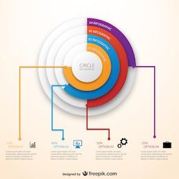 Plantilla circular de infografía