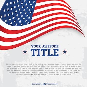 Plantilla con bandera de Estados Unidos