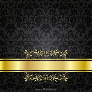 Plantilla con ornamentos dorados