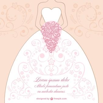 Plantilla con vestido de novia ornamentado
