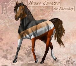 plantilla de caballo libre psd