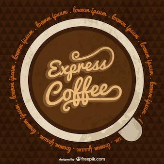 Plantilla de café espresso
