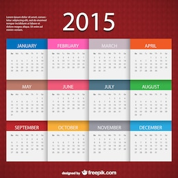 Plantilla de calendario de 2015